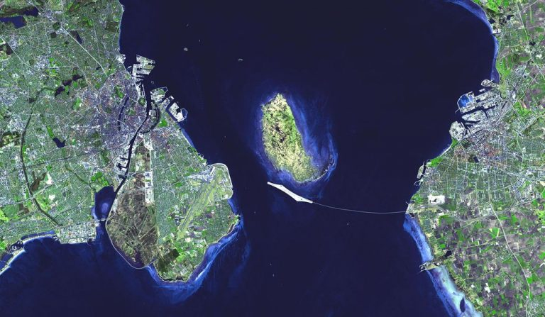 Satellite image of the bridge