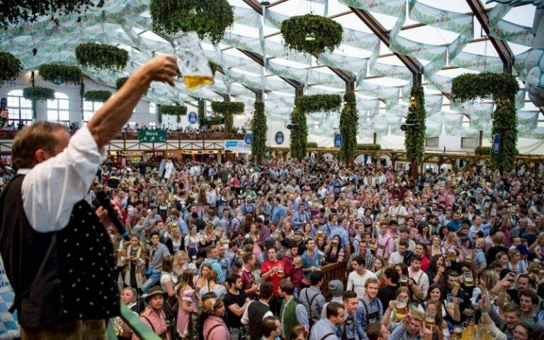 Hundreds of Oktoberfest Visitors