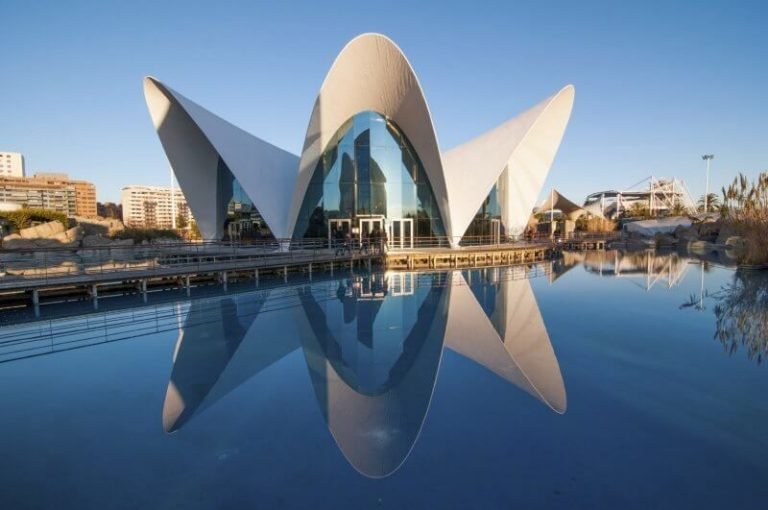 Oceanographic Park in the city of Valencia