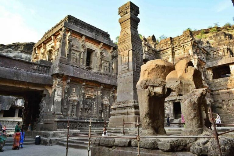 View of the cave temple of Ellora