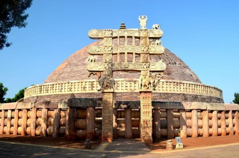 View of the Great Stupa in Sanchi