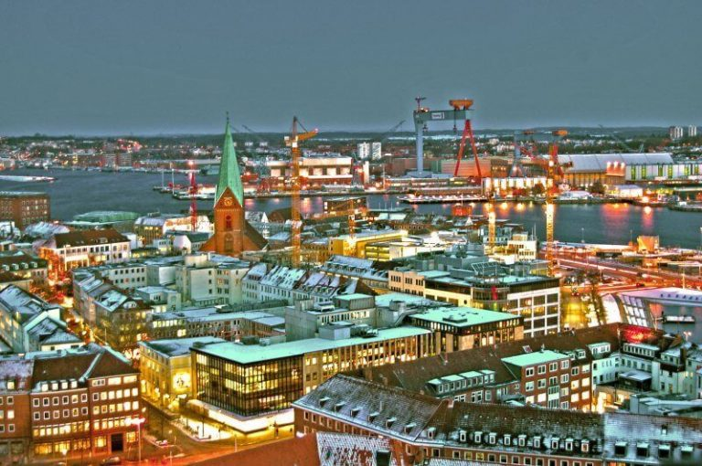 Kiel evening view