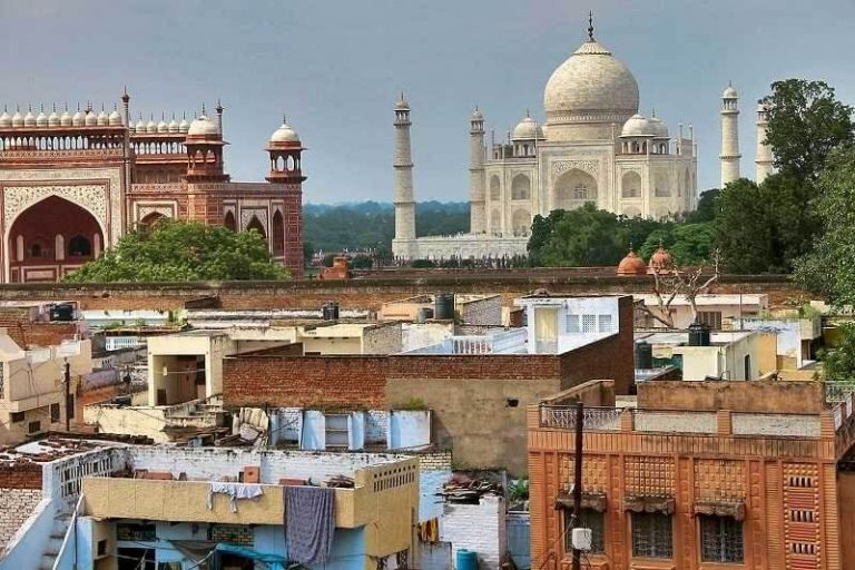 View of the city of Agra
