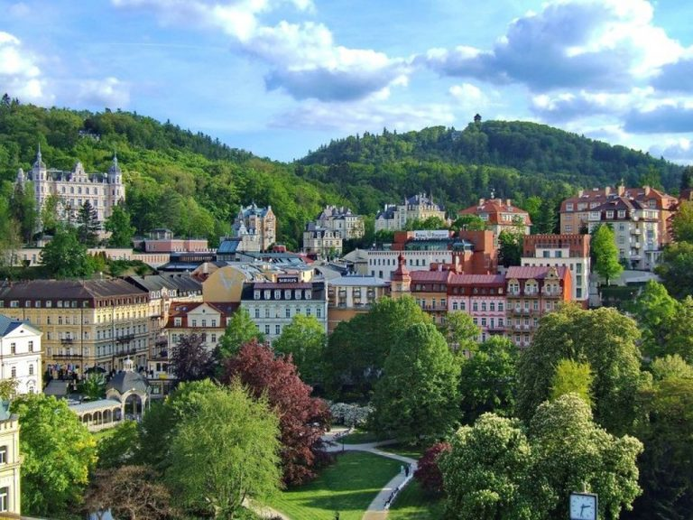 Karlovy Vary in the summer