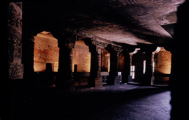 Dark Caves of Ajanta