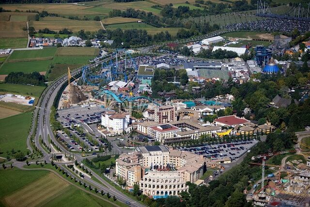 Europe park from above