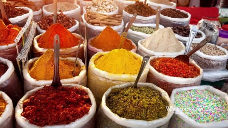 Spices in a market in India