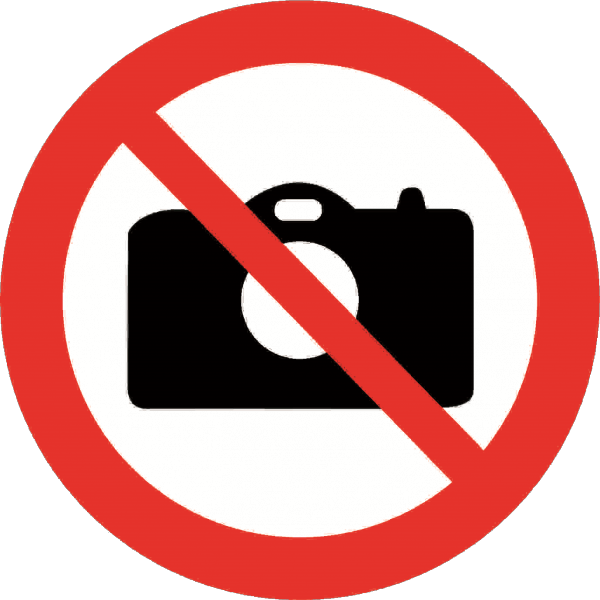 It is forbidden to take pictures