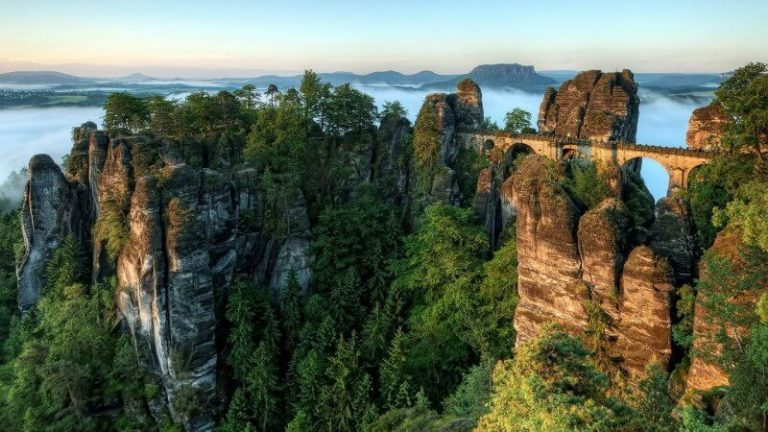 Rocks and Bastei Bridge