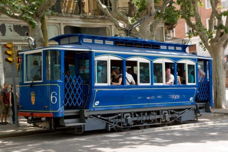 Blue Tram on Mount Tibidabo