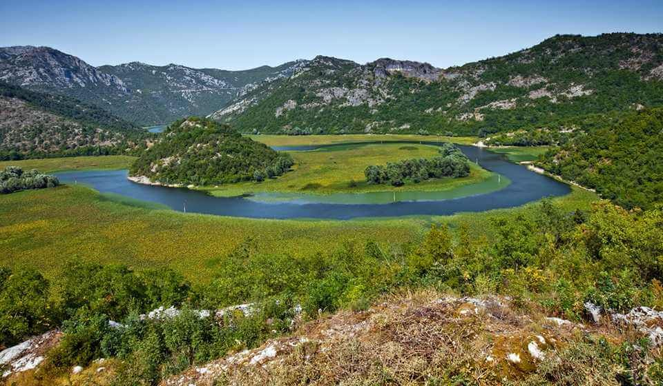 Photo: the largest lake in Montenegro