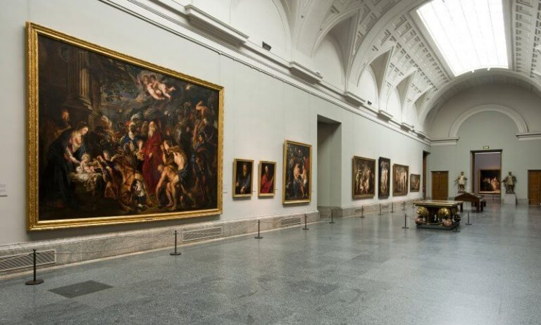 Painting Hall at the Prado Museum