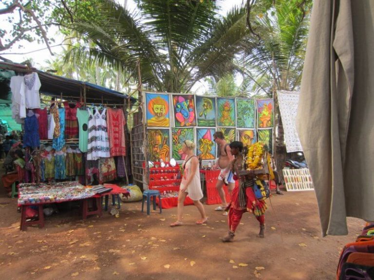 Anjuna Market in North Goa