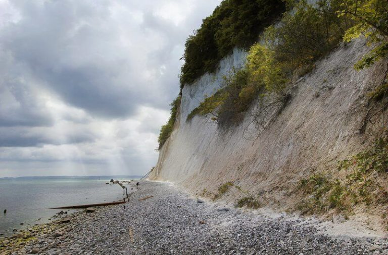 Beach and chalk cliffs