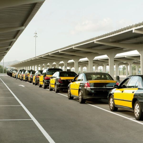 Taxi at Barcelona Airport