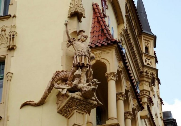 Facade of the building in the Jewish quarter