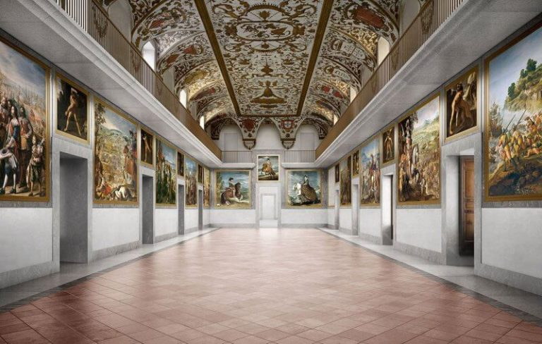 Hall at the Prado Museum