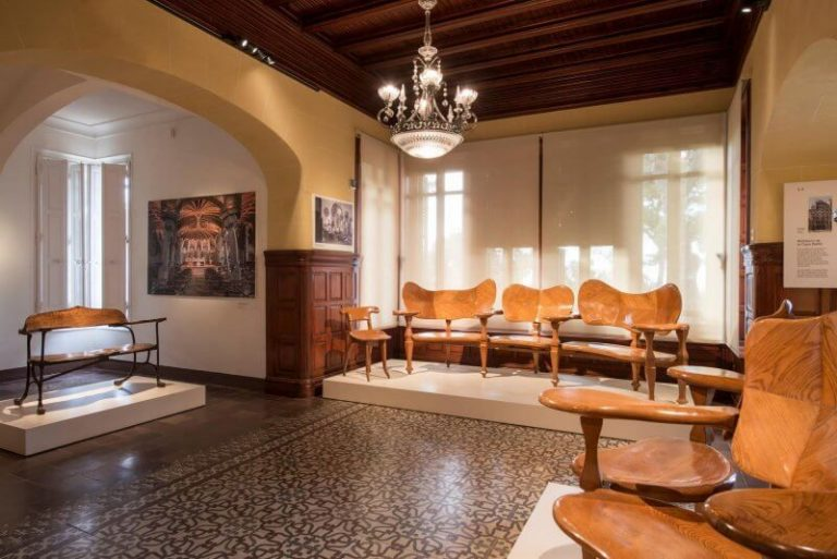 The main hall in the house-museum of Gaudi