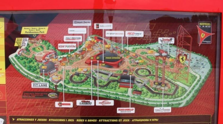 Ferrari Land diagram