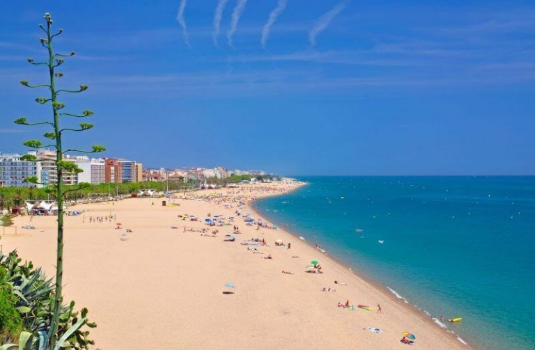 Beach in Calella