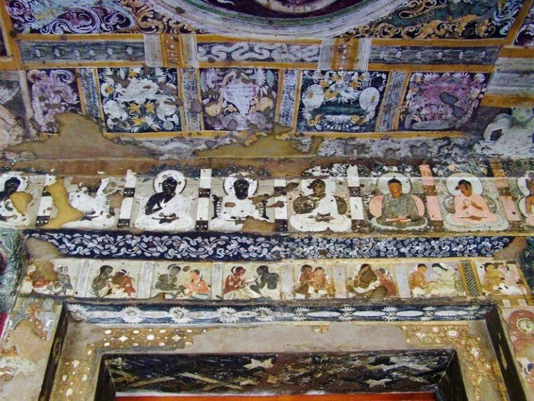 Frescoes in Ajanta Cave