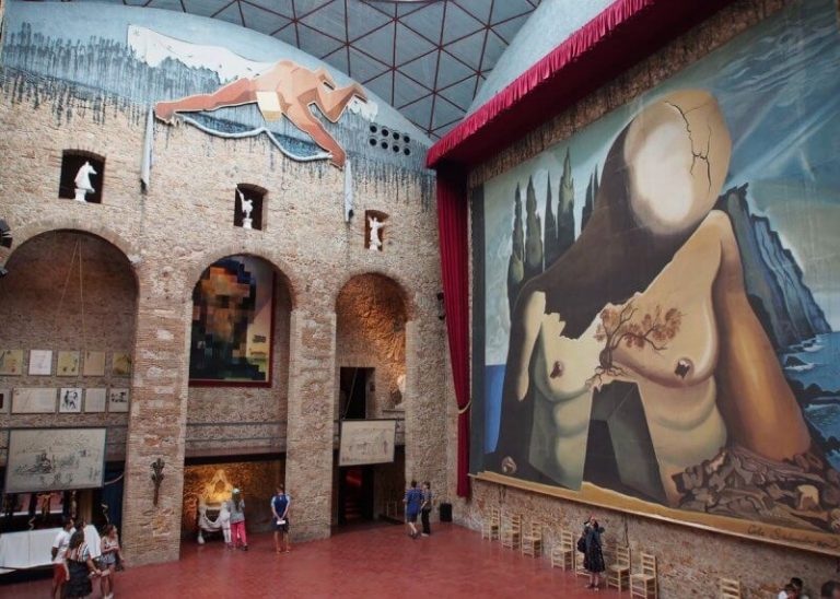 Hall of the theater and museum of Salvador Dali