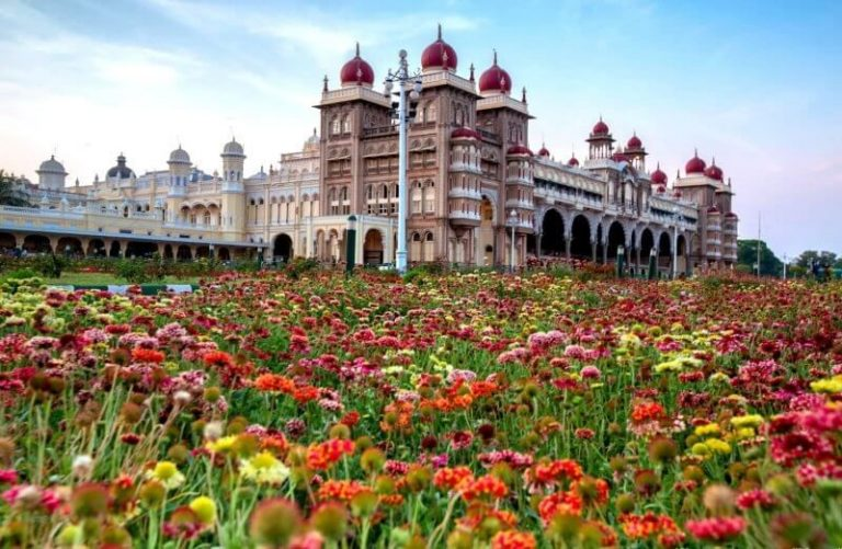 Flowers near the Mysore Palace
