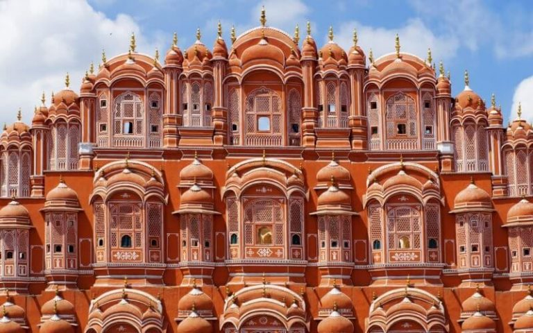 Facade of the Palace of the Winds in Jaipur