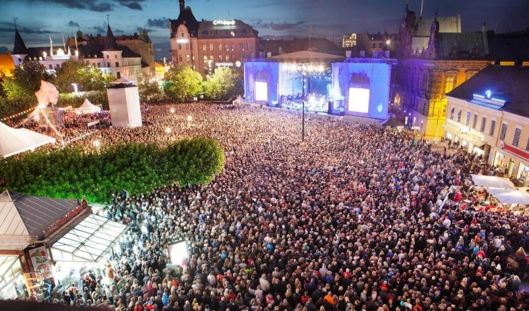 Concert in the square of Malmo
