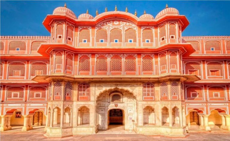 View of the city palace in Jaipur