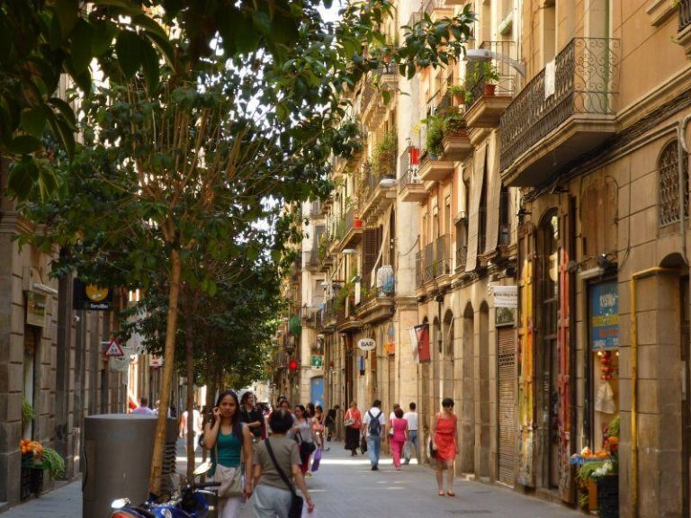 Raval district in Barcelona