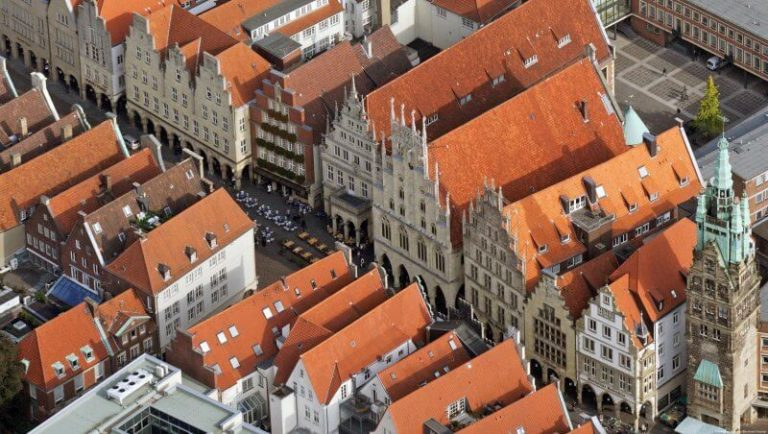 View of the rooftops of Münster