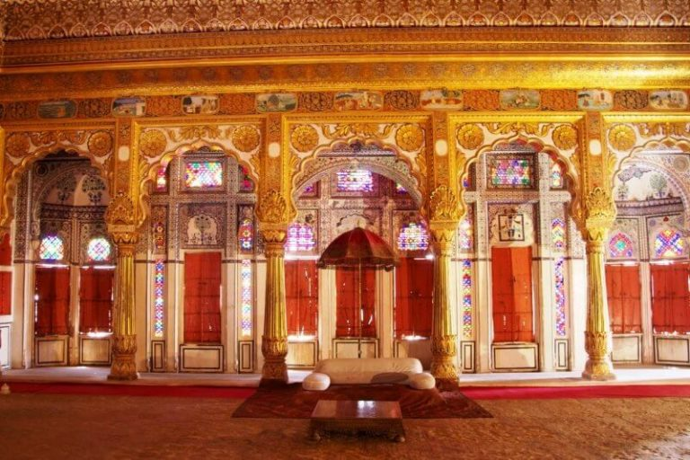 Hall of the Palace of the Winds in Jaipur