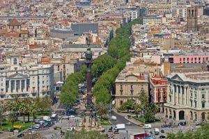La Rambla street in Barcelona