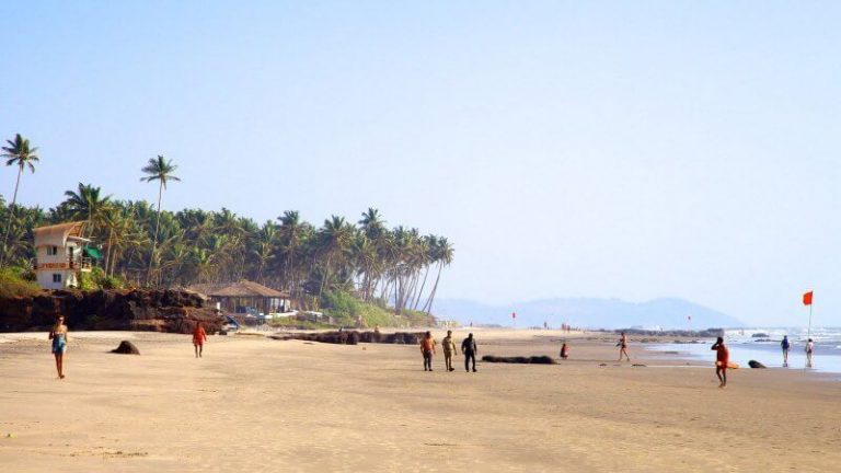 Locals at Ashvem Beach