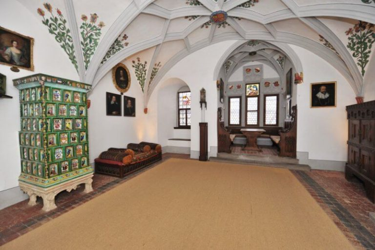 Hall in the castle of Eltz