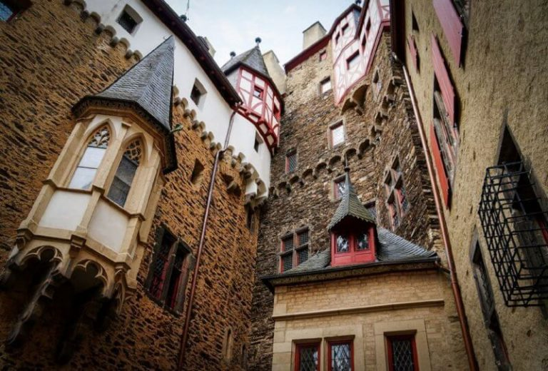 Courtyard in the castle of Eltz