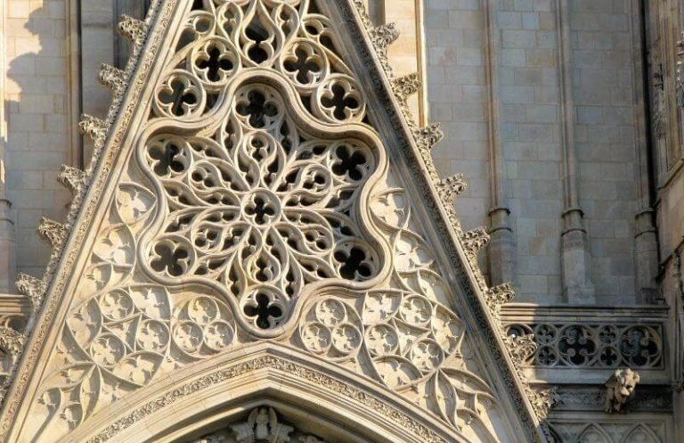 Pattern on the facade of the Cathedral