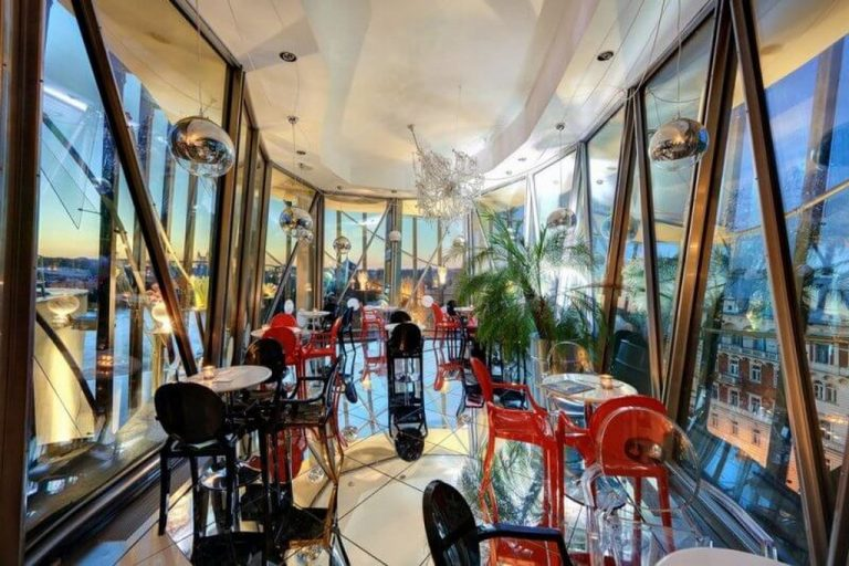 Bar in a dancing house