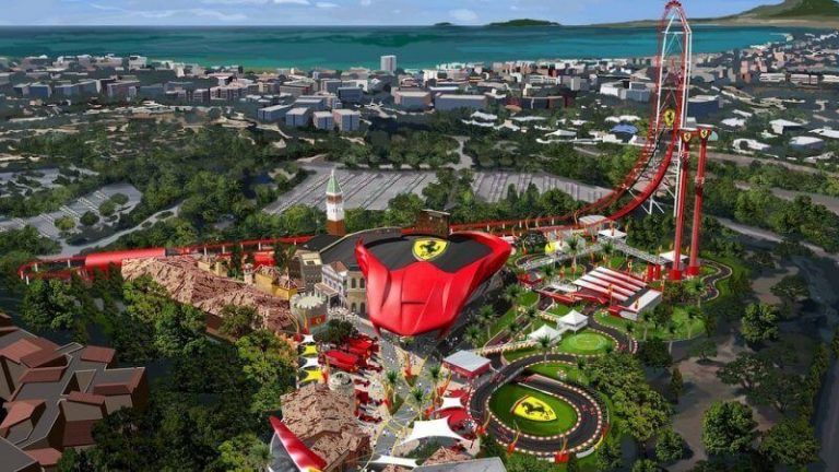 View of Ferrari Land