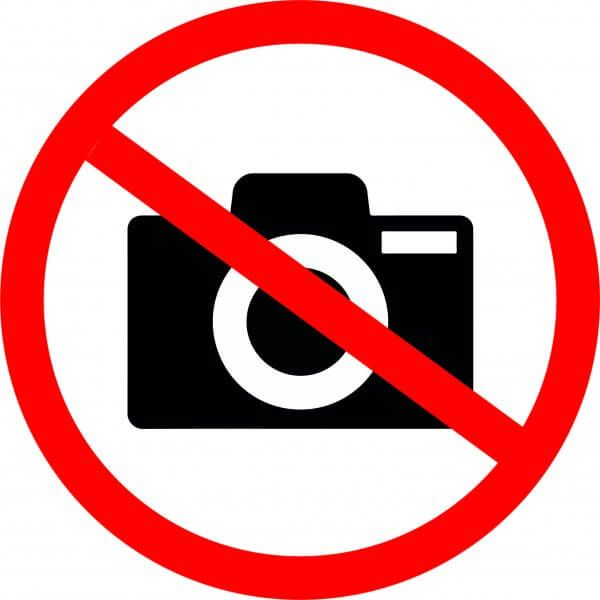 It is forbidden to take a photo