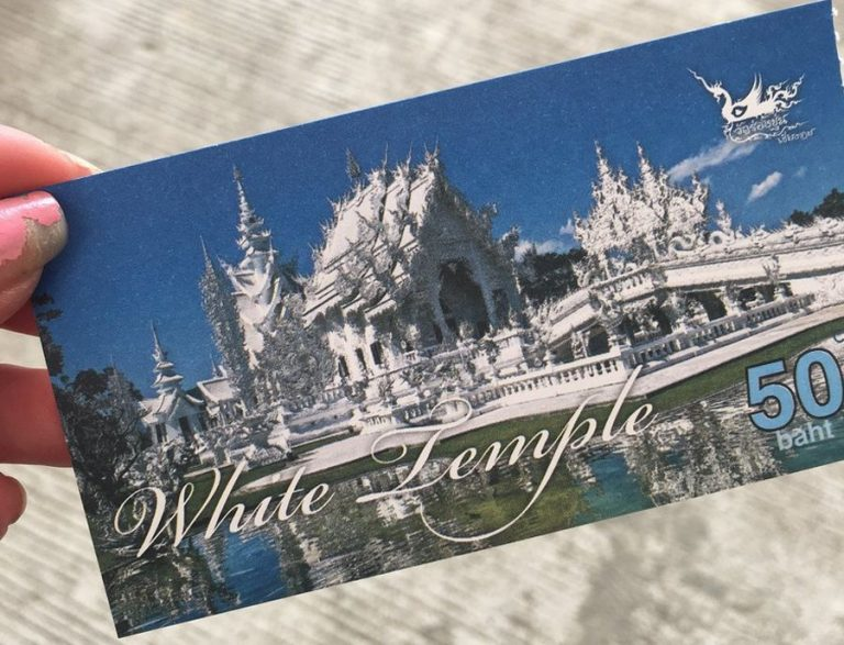 Ticket to Wat Rong Khun Temple