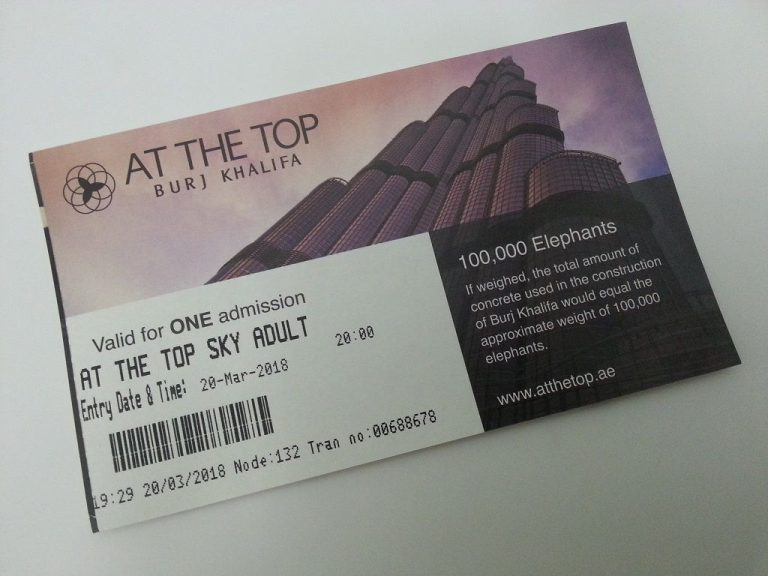 Observation deck ticket AT THE TOP SKY