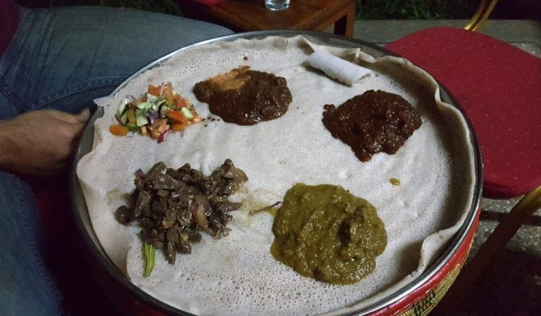Abyssinia Ethiopian Restaurant serves traditional African dishes