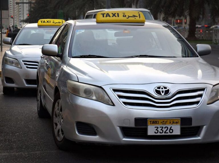 This is what a taxi looks like.