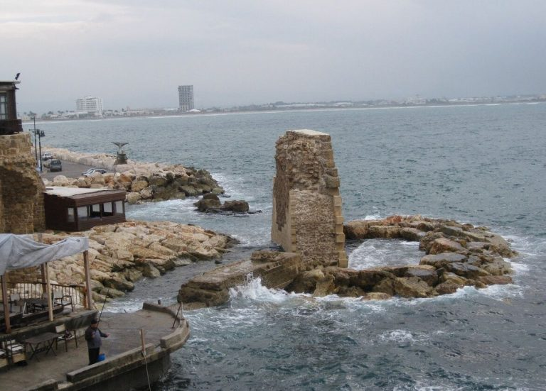 The ruins of an ancient port