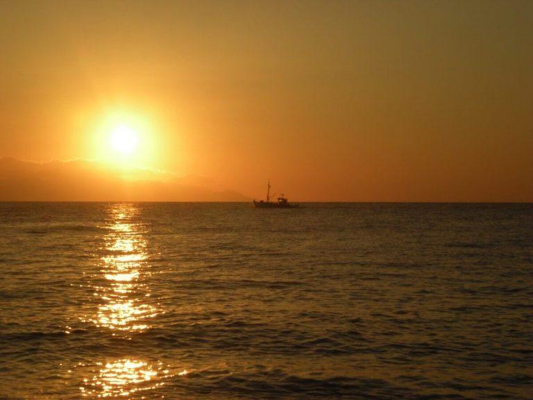 Santorini Beach Sunset