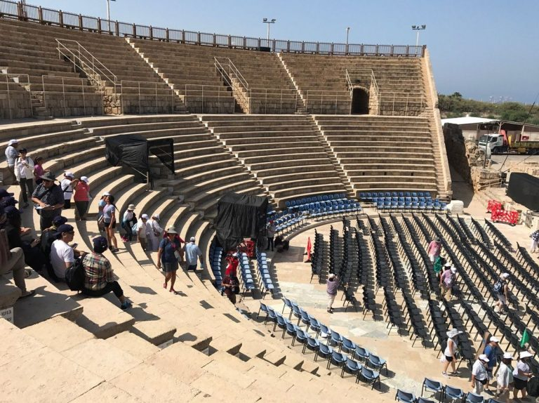 Caesarea Amphitheater regularly hosts performers