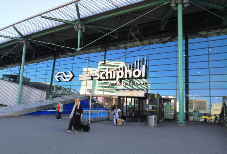 Arrival at Schiphol Airport