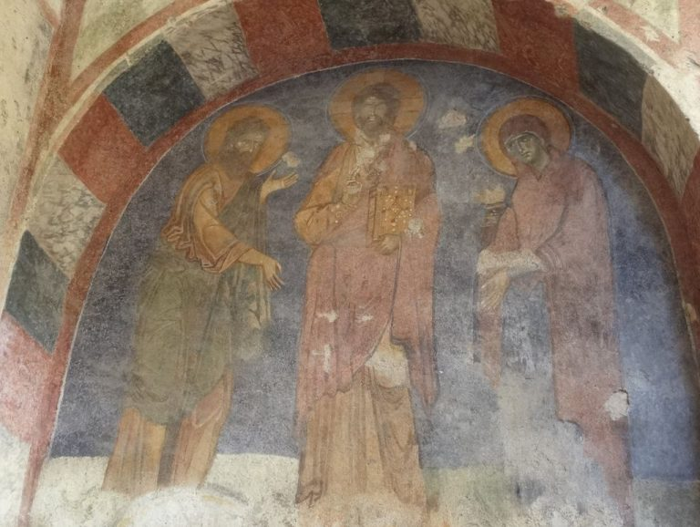 Ancient frescoes in the church of St. Nicholas the Wonderworker